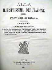 1876 ELEZIONI POLITICHE A CENTURIPE TRA CATANIA ED ENNA
