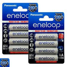 8 x Panasonic Eneloop AA batteries 1900mAh Rechargeable Ni-MH Accu LR06 BK-3MCCE
