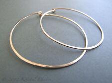"""gold-filled 50mm handmade hoop earrings Gold Hoops, 2"""" large 14k"""
