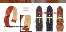 HIRSCH  LEATHER  SKIN LIZARD cuir en lézard veritable  Hirsch + 2 anses