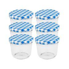 Einmachgläser 230 ml Schraubdeckel blau Marmeladengläser Sturzgläser Einweckglas