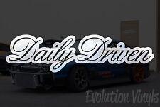 Daily Driven V3 Decal Sticker - JDM Lowered Stance Low Drift Slammed Turbo NOS