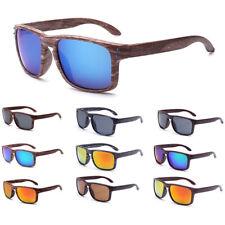 Herren Frauen Retro Faux Holz Drucken Square Sonnenbrille uv400 Brillen Zubehör