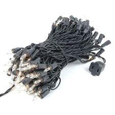 100 Light Christmas Mini Light Set, Black Wire, 50' Long
