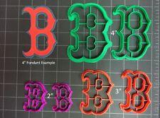 Boston Red Sox Cookie Cutter / Fondant Cutter / Cupcake Topper