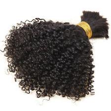 Short Afro Kinky Human Hair Bulk 100%Mongolian Afro Curly Bulk Hair For Braiding