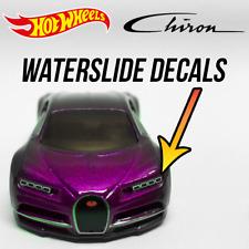 Hot Wheels Bugatti Chiron Custom WaterSlide White Toner Decals for Headlight
