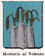 Stemma: Comune di MONTORIO AL VOMANO.Cromolitografia.Teramo.Abruzzo.Abruzzi.1901