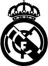 p494 Escudo Real Madrid Futbol Pegatina Sticker Vinilo Coche Adhesivo Moto