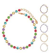 Sparkly Austria Crystal Mutli Coloured Purple Tennis Bracelet Women Bridal Gift