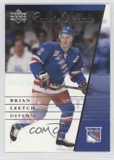 2002-03 Upper Deck Rookie Update #68 Brian Leetch New York Rangers Hockey Card