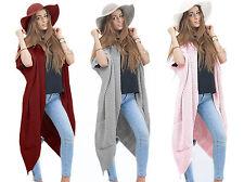 Damen Strickjacke Pullover Pulli Jacke Lang Cardigan Oversize Boho S M L XL 629