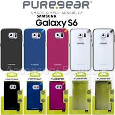 PureGear Samsung Galaxy S6 Slim Shell Impact Flexible Silicone Case Slim Cover