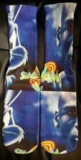 Custom Space Jam close up gamma dry fit socks Jordan Bugs I II III  TshirtConnex