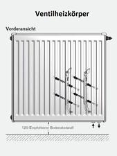 Buderus Ventil Heizkörper Typ 11 21 22 33, Höhe 300, 400, 500, 600, 900 im Set