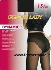 10 Collant donna Golden Lady Dinamic15 velatissimo con corpino ricamato sgambato