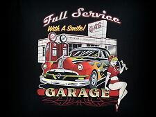 Lleno Servicio, Camiseta, Talla Especial, M-5XL, Plus Size, Pin Up, Old School,