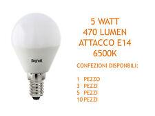 LAMPADA SFERA LED 6500K 5W E14 470LM ELPLAST BEGHELLI 56819 VARIE CONFEZIONI