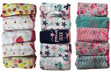 Girls Kid 5 Pack Comfortable Soft Panties Brief Cotton Underwear Size 2-13 Years