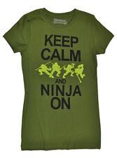 TMNT Womens S/S Keep Calm and Ninja On Top Size XS S M L XL XXL