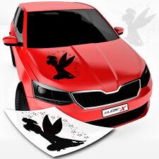 Sitzende Fee Autoaufkleber Fairy Sticker Elfe Tattoo Car Design Sterne