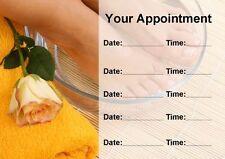 Salon de beauté traitement Spa Pédicure Ongles personnalisé carte de rendez-vous