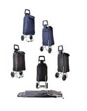 Pliable 2 roues Léger Shopping Trolley bagages sac noir/bleu marine