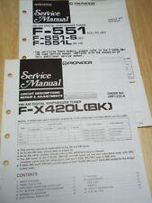 Pioneer Service Manual~F-X420L(BK)/551/551L/S Tuner~Original~Repair
