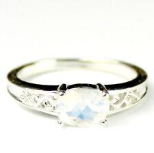 Rainbow Moonstone, 925 Sterling Silver Ladies Ring, SR362-Handmade