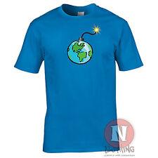 Earth Bomb t-shirt environment global warming funny cartoon political tee