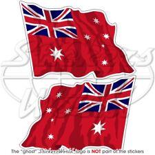 AUSTRALIE Red Ensign Drapeau Flottant 120mm Autocollants x2 Stickers
