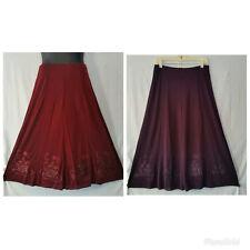 Women Clothing Stretch Skirt Elastic Waist Skirt Purple Maroon Size M L XL XXL