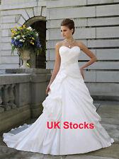 Stock Clearance Elegant Satin Wedding Dresses Size 8 10 UK Stock
