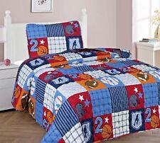 2/3 Piece Kids/Teens Quilting Bedspread Bedding QUILT Set Boys Patchwork Sport