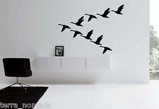 Flying Geese Skene Wall Art, Geese Stickers, Decals, Birds