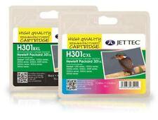 H301 XL Negro y Color Remanufactured HP Cartuchos de tinta de impresora HP301