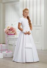 Kommunionkleid Kommunionskleid Kommunion Kleid Schleife dezent schlicht edel neu