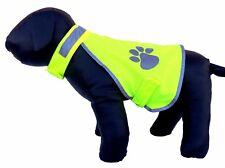 Sicherheitsweste Hund reflektierend XS S M L XL Klettverschluss gelb Warnweste