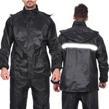 Waterproof Motorbike Motorcycle Jacket & Trousers Rain Suit Raincoat Overalls