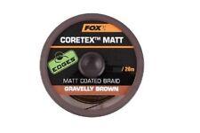 Fox edges coretex Matt gravelly Brown 20m vorfachschnur vorfachmaterial Rig