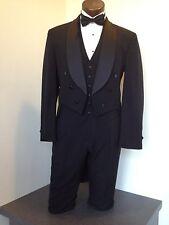 Black Tuxedo Tail Coat - Formal full dress Shawl Lapel  - boys sizes 3 thru 18