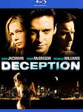 DECEPTION BLU RAY MOVIE HUGH JACKMAN MICHELLE WILLIAMS EWAN MCGREGOR FREE SHIP