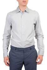 Prada Men's Gray Dress Shirt Size US 15 1/2 16 17 IT 39 41 43