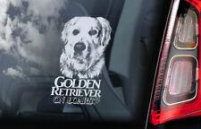 Golden Retriever on Board - Car Window Sticker - Gun Guide Dog Sign Decal - V09