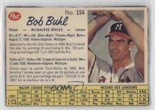 1962 Post Canadian #154 Bob Buhl Chicago Cubs Baseball Card