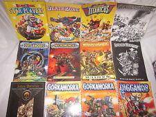 Warhammer Libros de regla de anuncio de varios Gorkamorka Necromunda BloodBowl elige