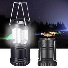 Camping linterna portable plegable 30 LED caminata noche lámpara luz linterna O9