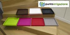 Sottovasi per vaso cache pot resina quadrato alto sottovaso varie misure colori