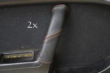 FITS MAZDA RX7 FC3S 2X DOOR HANDLE COVERS orange stitch