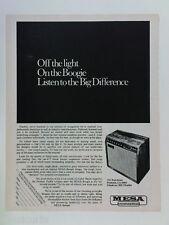 retro magazine advert 1982 MESA BOOGIE